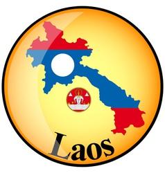 button Laos vector image vector image