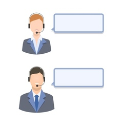 Call center agents vector image
