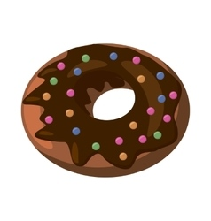 Donut icon cartoon style vector image