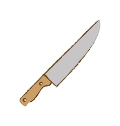 gray knife cook icon image vector image
