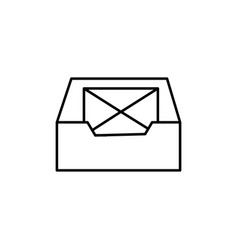 inbox mail icon vector image vector image