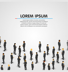 large group of businessman background vector image