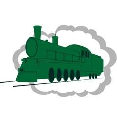 Old locomotive-1 vector image vector image