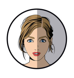 portrait woman makeup charming beautiful vector image