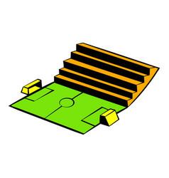 Soccer stadium icon icon cartoon vector