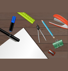 stationery paper background vector image vector image