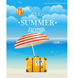 Summer seaside vacation Hello summer vacation vector image vector image