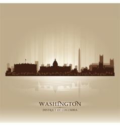 Washington District of Columbia skyline city silho vector image vector image