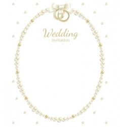 wedding jewel frame vector image vector image
