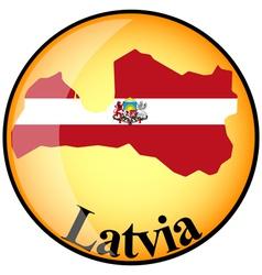 button Latvia vector image vector image