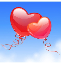 heart shaped balloon vector image