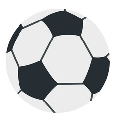 soccer or football ball icon isolated vector image vector image