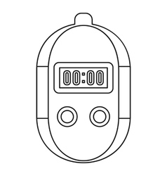 Stopwatch icon outline style vector image