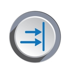 Arrow to right icon Move direction cursor sign vector image vector image