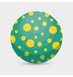 Balloon plastic toy isolated icon vector