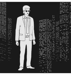 Businessman in the city vector image