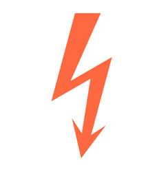 Danger high voltage lightning symbol warning sign vector