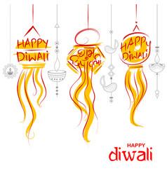 hanging kandil diwali holiday background for light vector image vector image