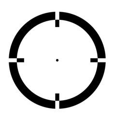 sight the black color icon vector image