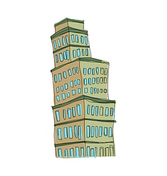 A building stand on vector image vector image