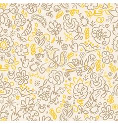 Floral seamless yellow dark vector