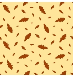 Seamless pattern autumn leaves oak vector image vector image