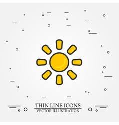 Sun thin line design Sun pen IconSun pen IconSun p vector image