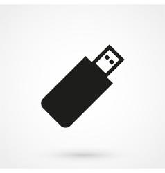 usb icon black on white background vector image