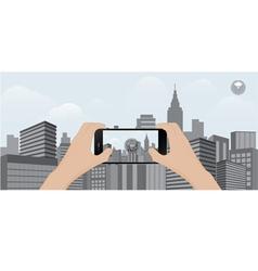 360 degree view in mobile urban scene vector image