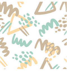 abstract elements seamless patterndotslines vector image