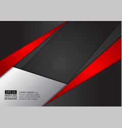 abstract geometric red and black color modern vector image