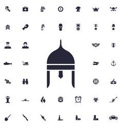 Ancient helmet icon vector
