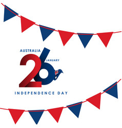 australia independence day template design vector image