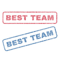 Best team textile stamps vector