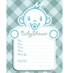 Blue Baby Boy Invitation vector image