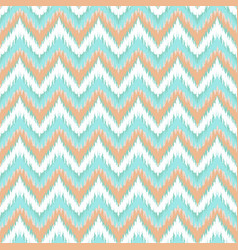 boho zig zag strip blue seamless pattern vector image