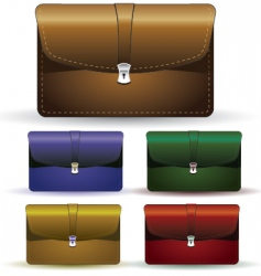 Briefcase set vector