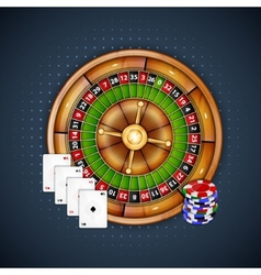 Cards chips and roulette vector