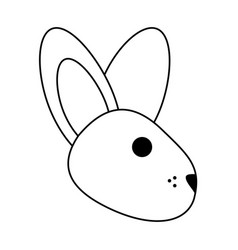 Cartoon rabbit or bunny icon image vector