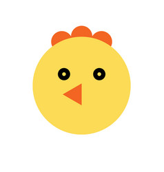Chicken cartoon animal head vector