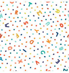 childish seamless dotted pattern with colorful vector image