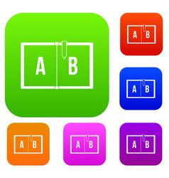 children abc set color collection vector image