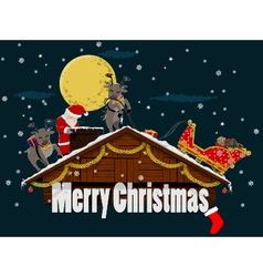 Christmas roof vector