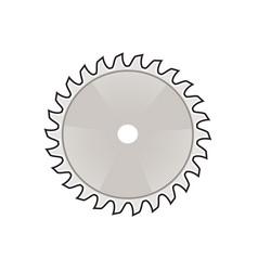 Circular saw blade icon retro vector
