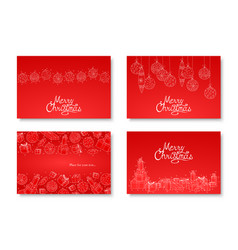 collection of beautiful hand drawn merry vector image