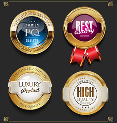 collection of elegant golden premium quality vector image
