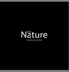 Creative nature logo logo nature vector
