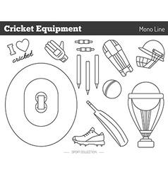 Cricket game design elements vector
