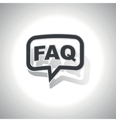 Curved FAQ message icon vector