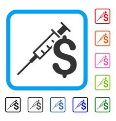 Drug business framed icon vector